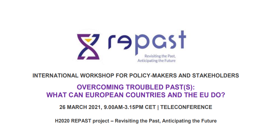 H2020 RePAST Project Holds International Workshop on 26 MARCH 2021